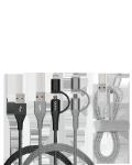 Læs mere om 3-i-1 stik kabel med Micro USB & 8-pin stik