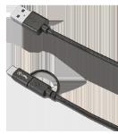 Læs mere om 3-i-1 stik med Micro USB og USB-C