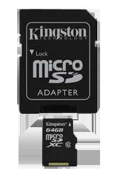 Se stort billede af Kingston Hukommelseskort 64GB