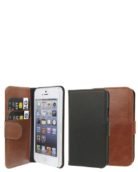 Se stort billede af iPhone SE / 5&5S Læder flipcover