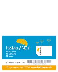 Se stort billede af Holiday Net 10 GB i 30 dage