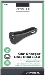 Universal Biloplader m. 2 USB porte