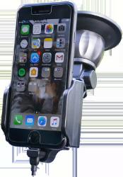 Se stort billede af iPhone X Bilholder med sugekop og kabel